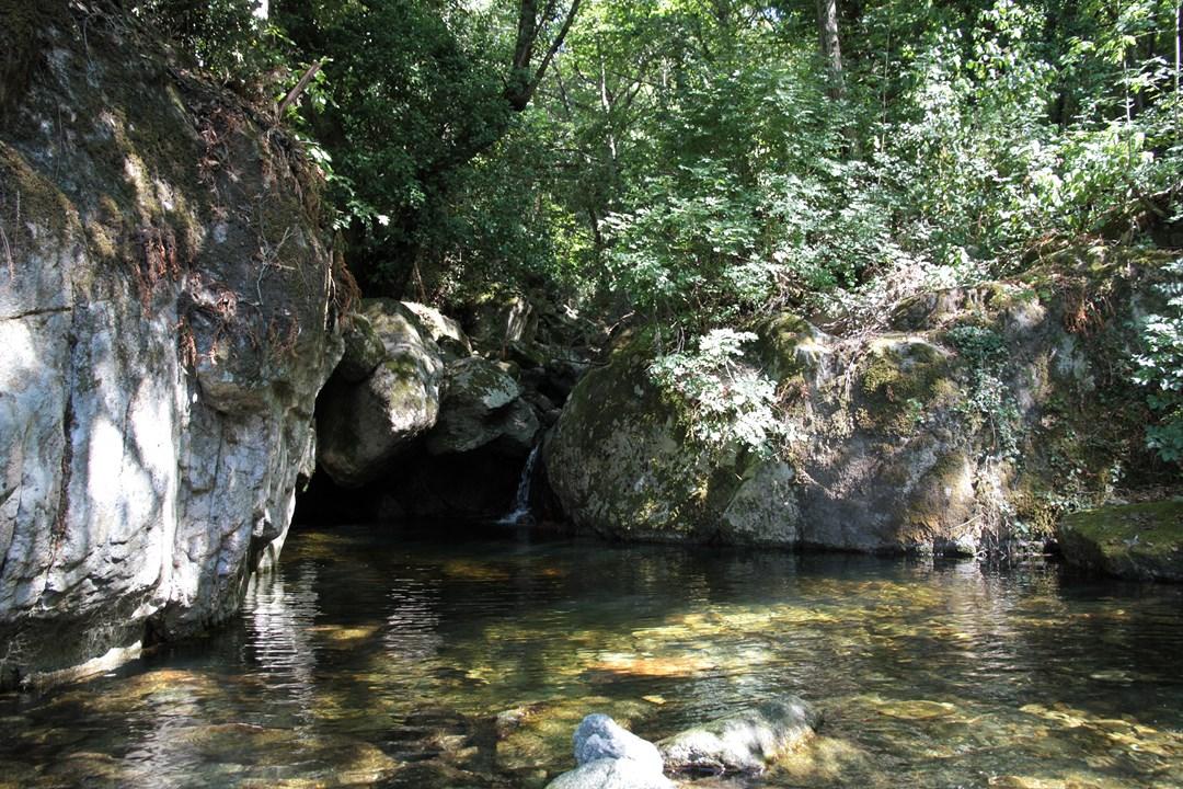 baignade en riviere au village